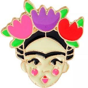 Frida Kahlo Enamel Pin ❤️NEW❤️ FRIDA KAHLO 🎨
